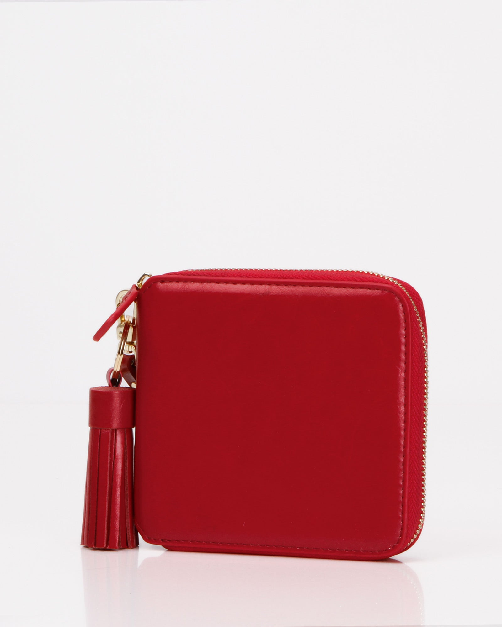 Nora Leather Wallet - Red