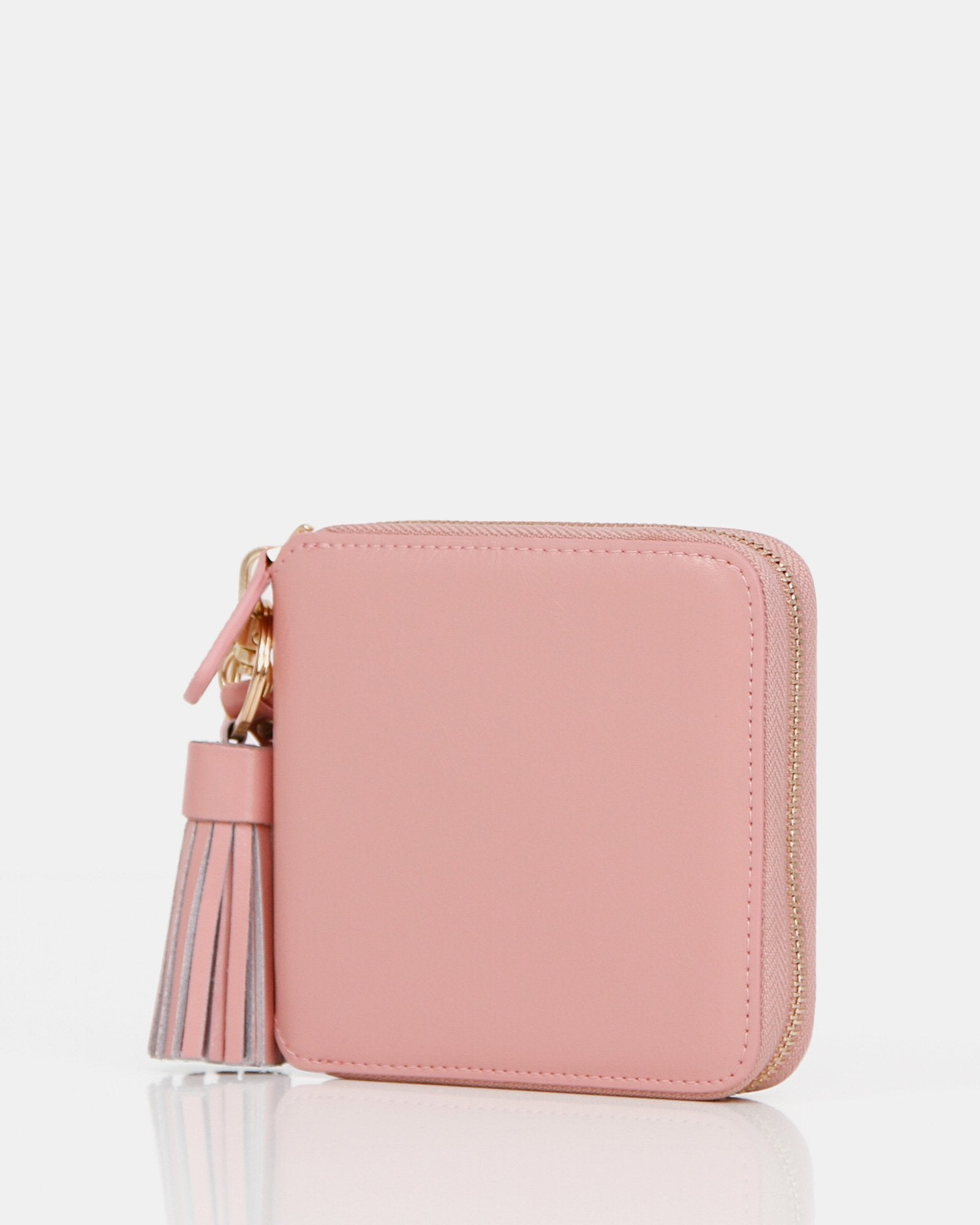 Nora Leather Wallet - Pink