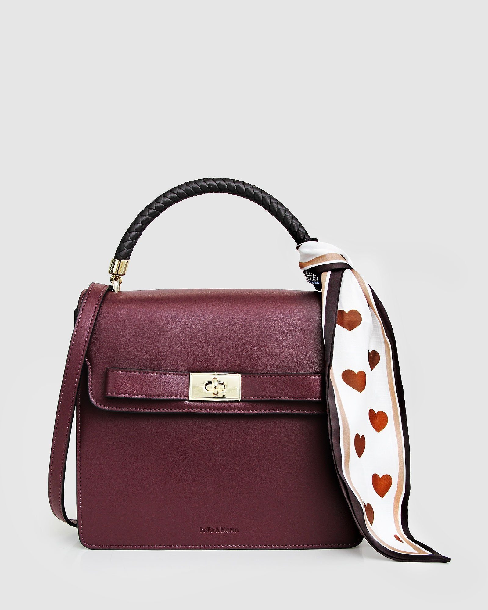 Over You Leather Cross-Body Bag - Merlot