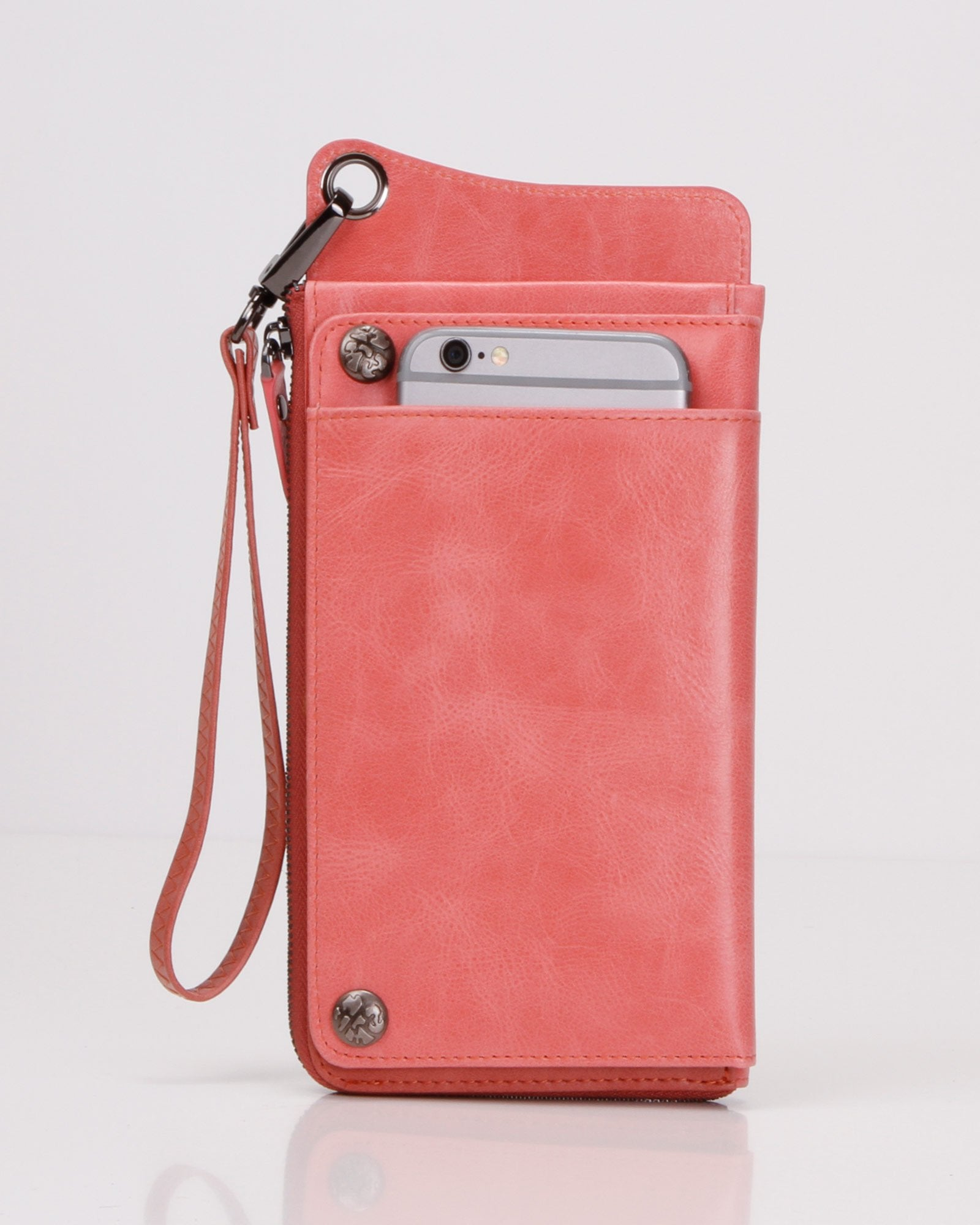 Penelope Leather Wallet - Blush