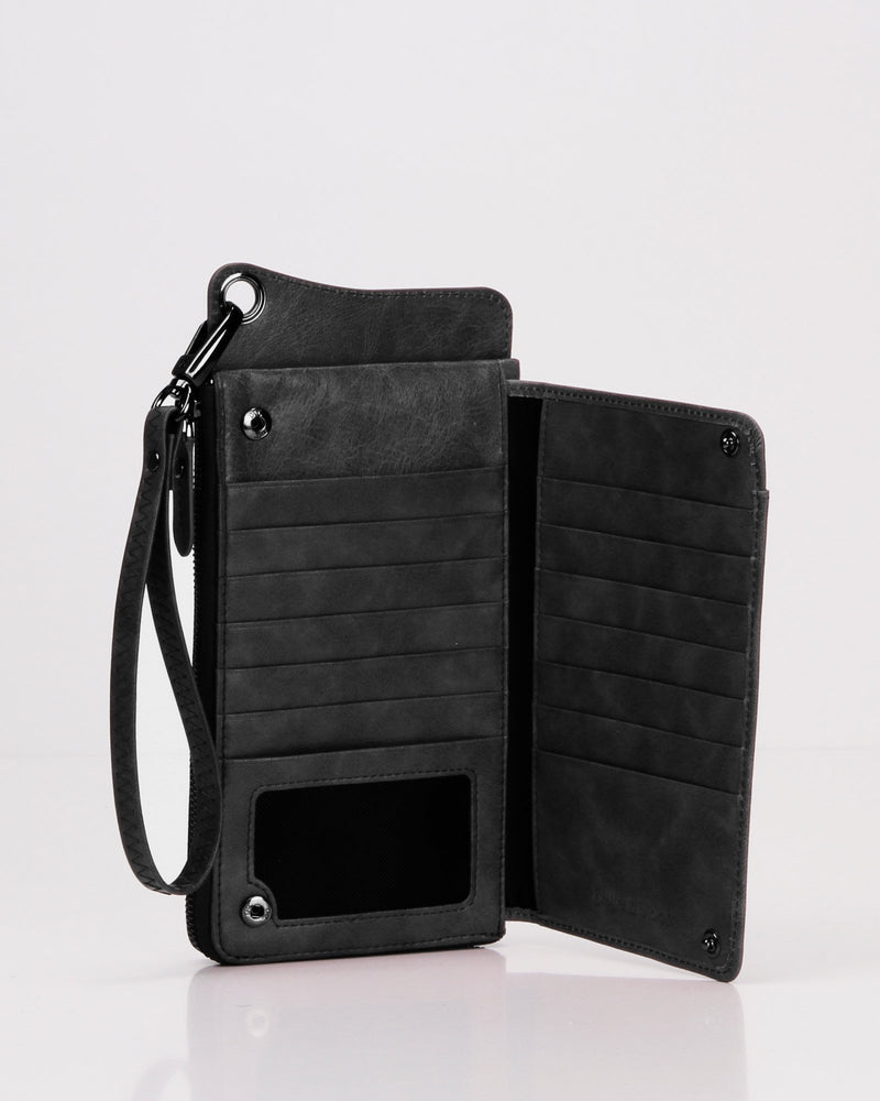 Penelope Leather Wallet  - Black X