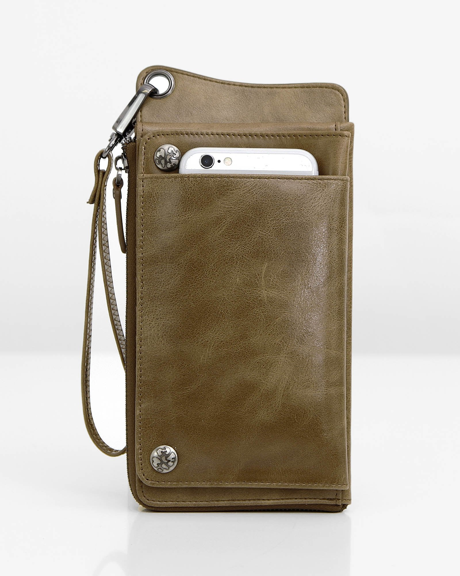 Penelope Leather Wallet - Khaki