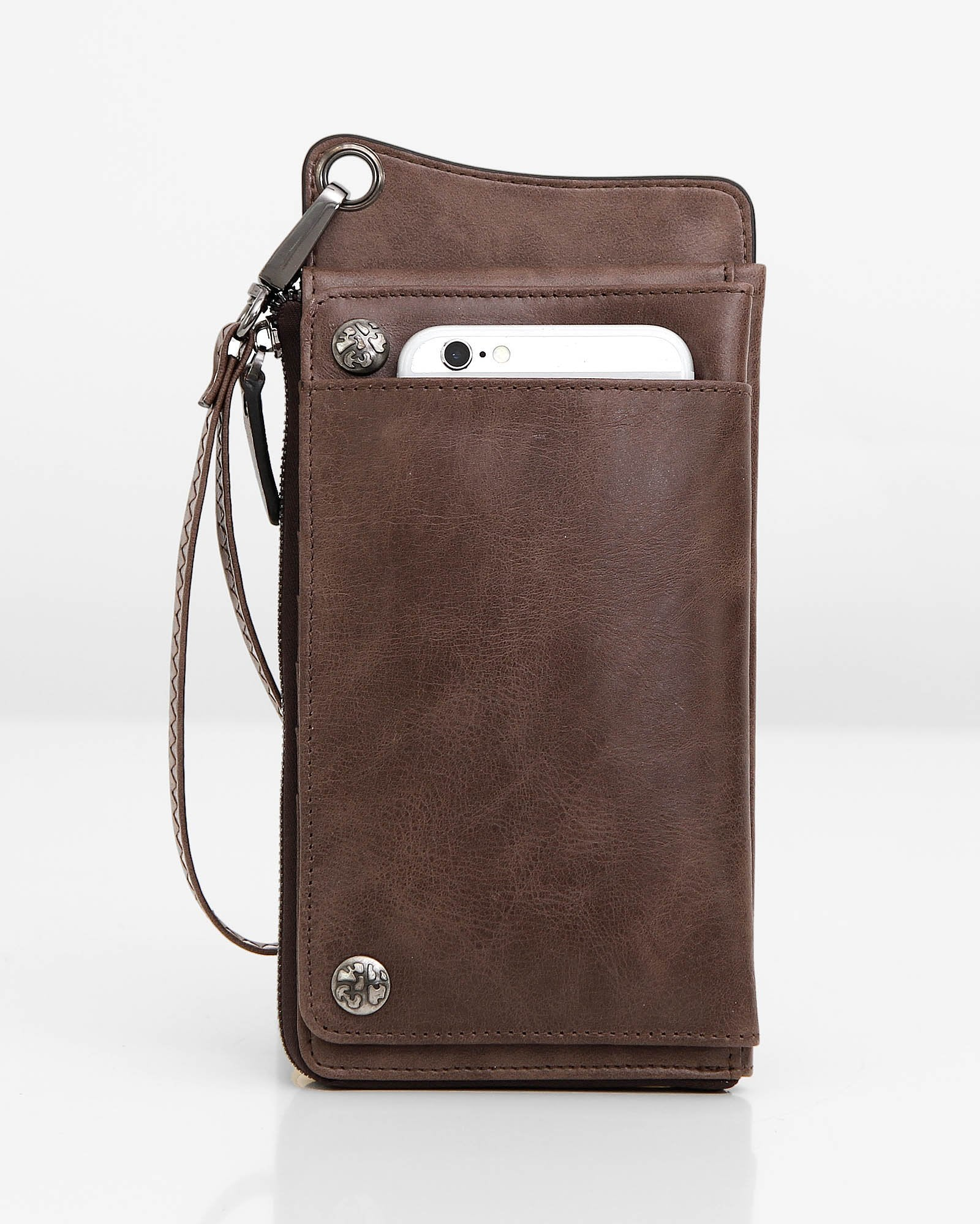 Penelope Leather Wallet - Coffee