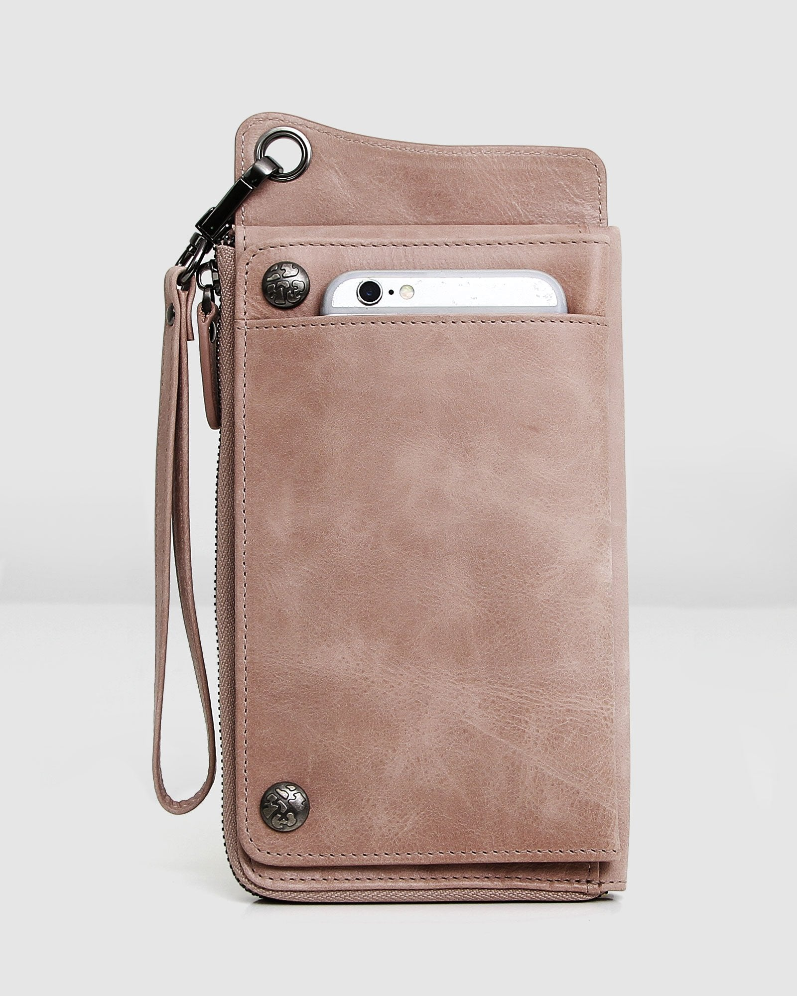 Penelope Leather Wallet - Dusty Rose