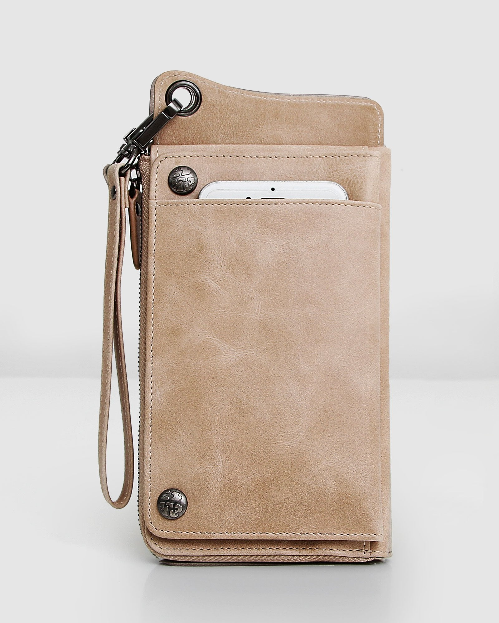 Penelope Leather Wallet - Latte