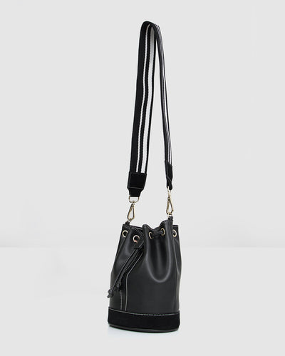 Rainbow_bucket_bag_black_leather_golden_ring_web_strap-hangning.jpg
