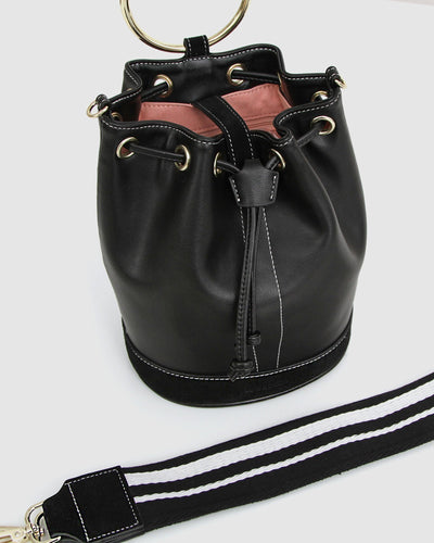 Rainbow_bucket_bag_black_leather_golden_ring_web_strap.jpg