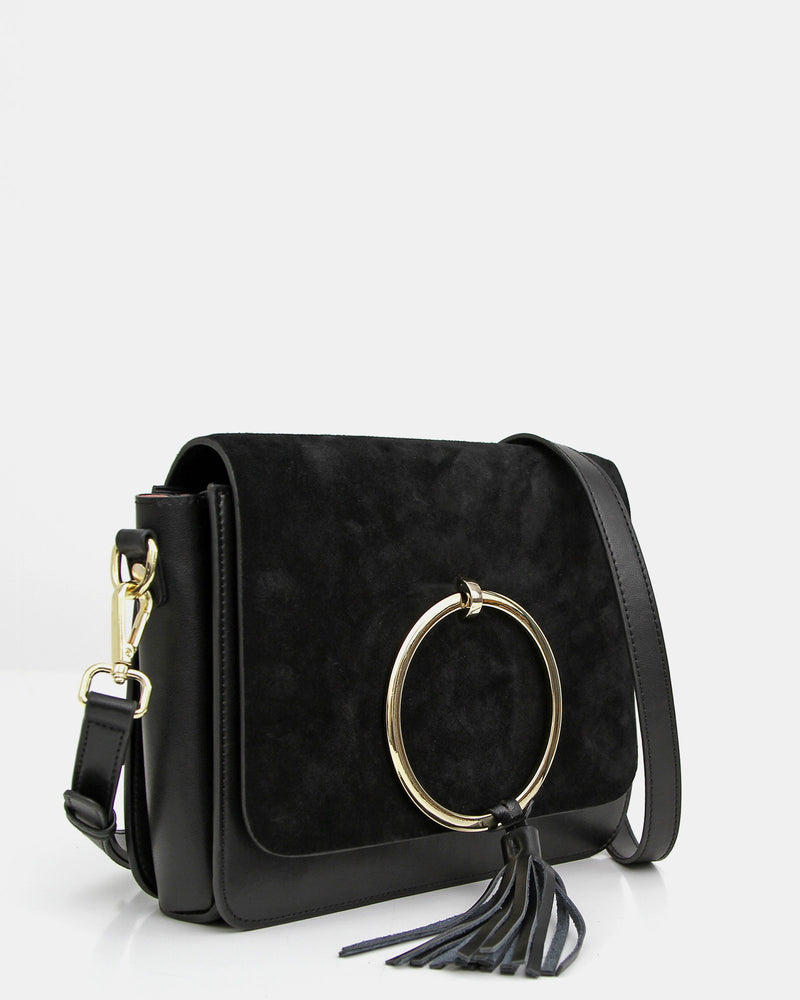 Sailor City Leather Cross-Body - Black