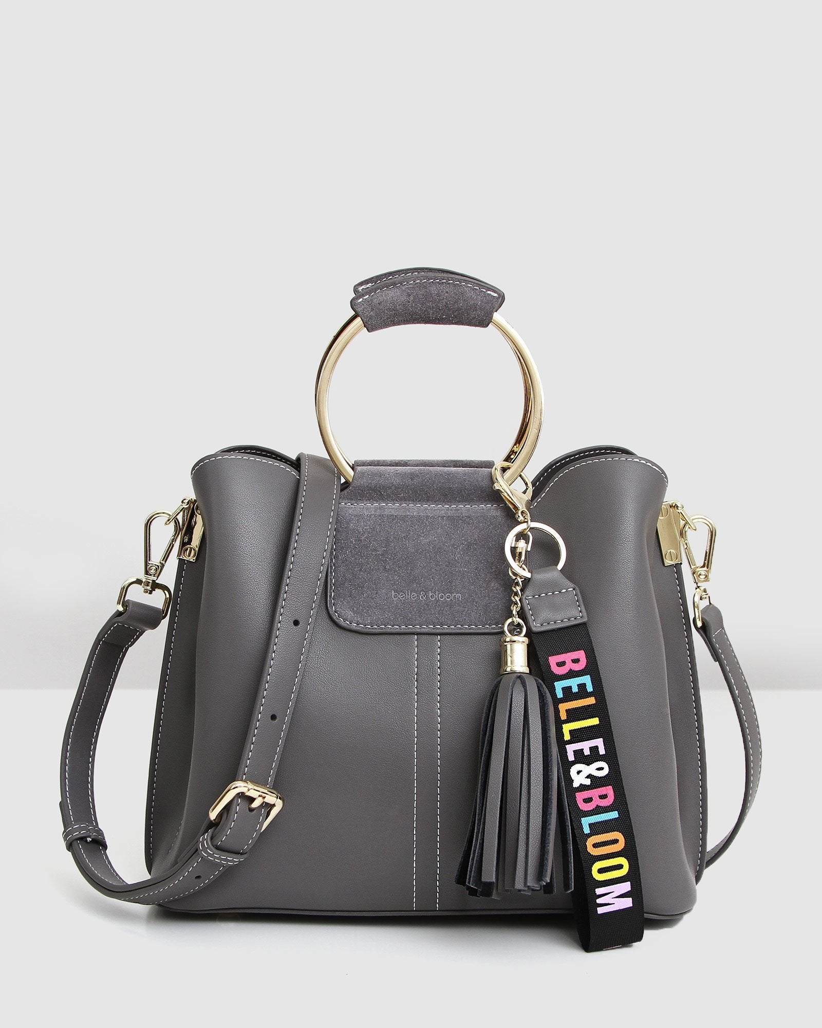 Twilight Leather Cross-Body Bag - Ash