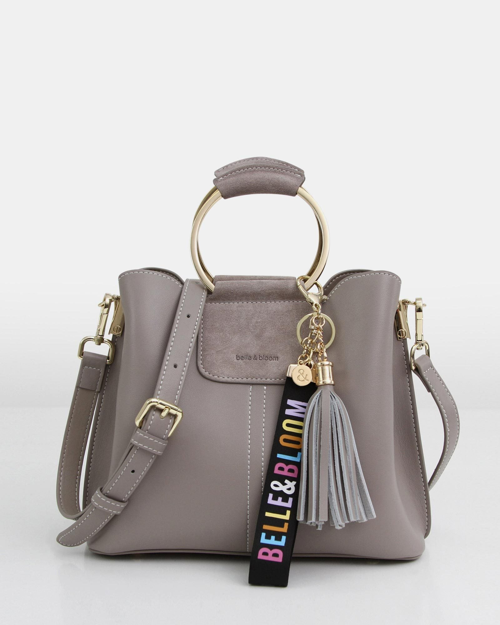 Twilight Leather Cross-Body Bag - Grey