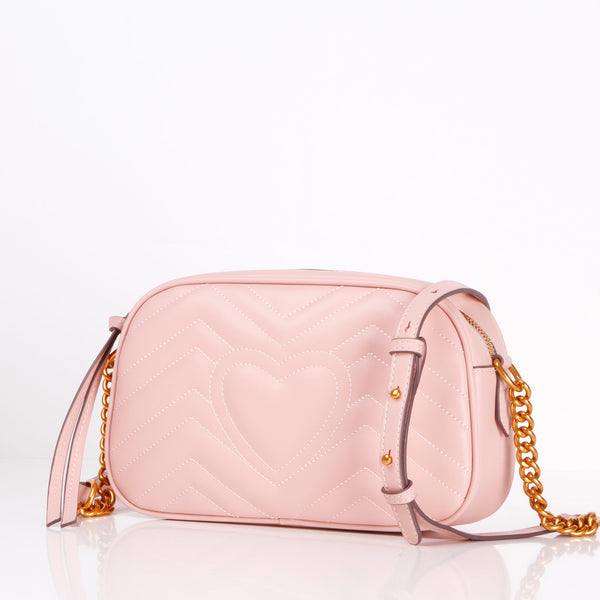 Victoria - Leather Crossbody Pink