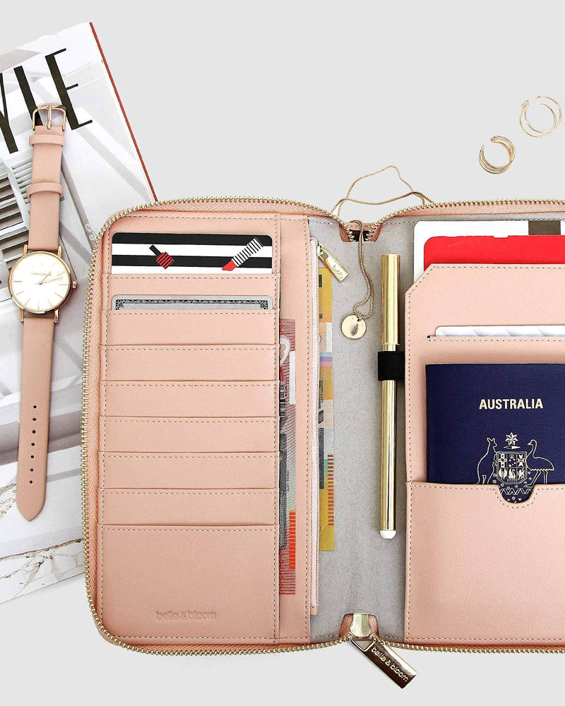 Wilona Leather Organiser - Blush