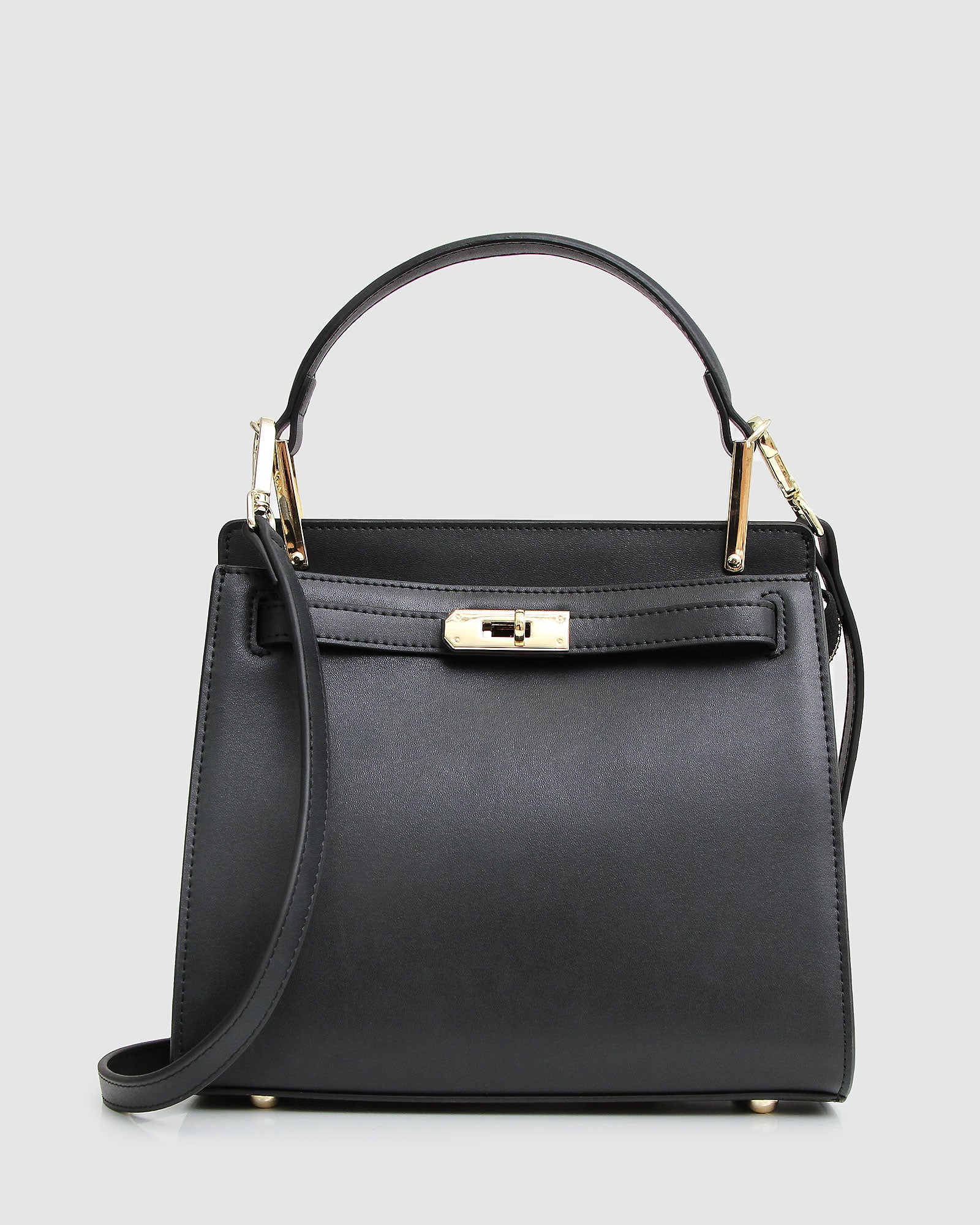 Simply Perfect Leather Cross-Body Bag - Black