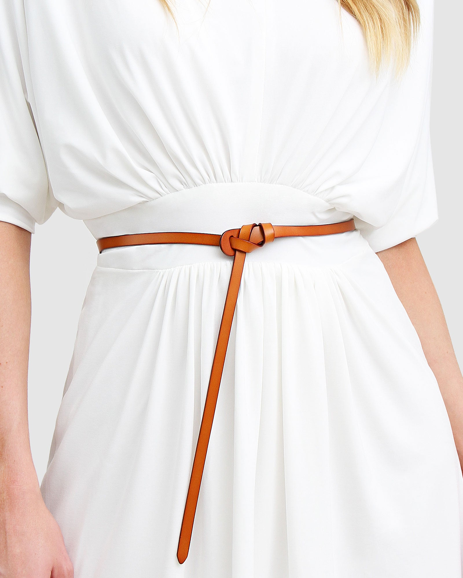 Tie The Knot Leather Belt - Brown