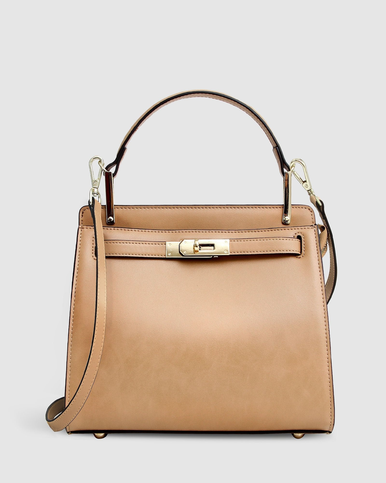 Simply Perfect Leather Cross-Body Bag - Camel