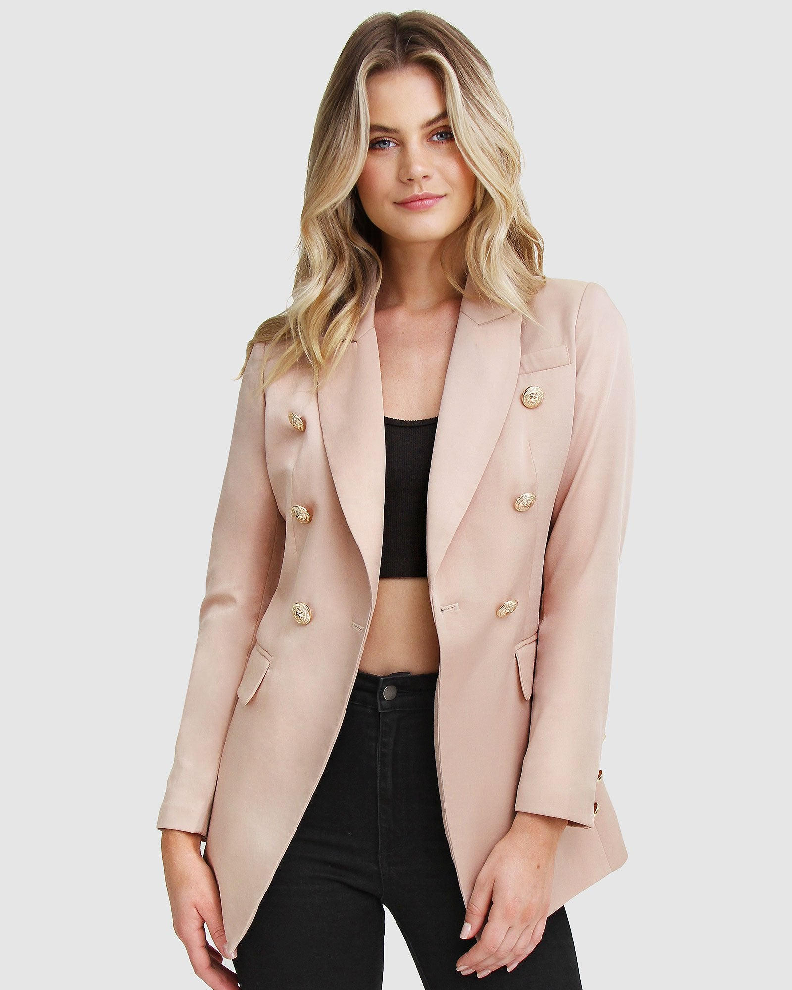 Princess Polly Blazer - Blush