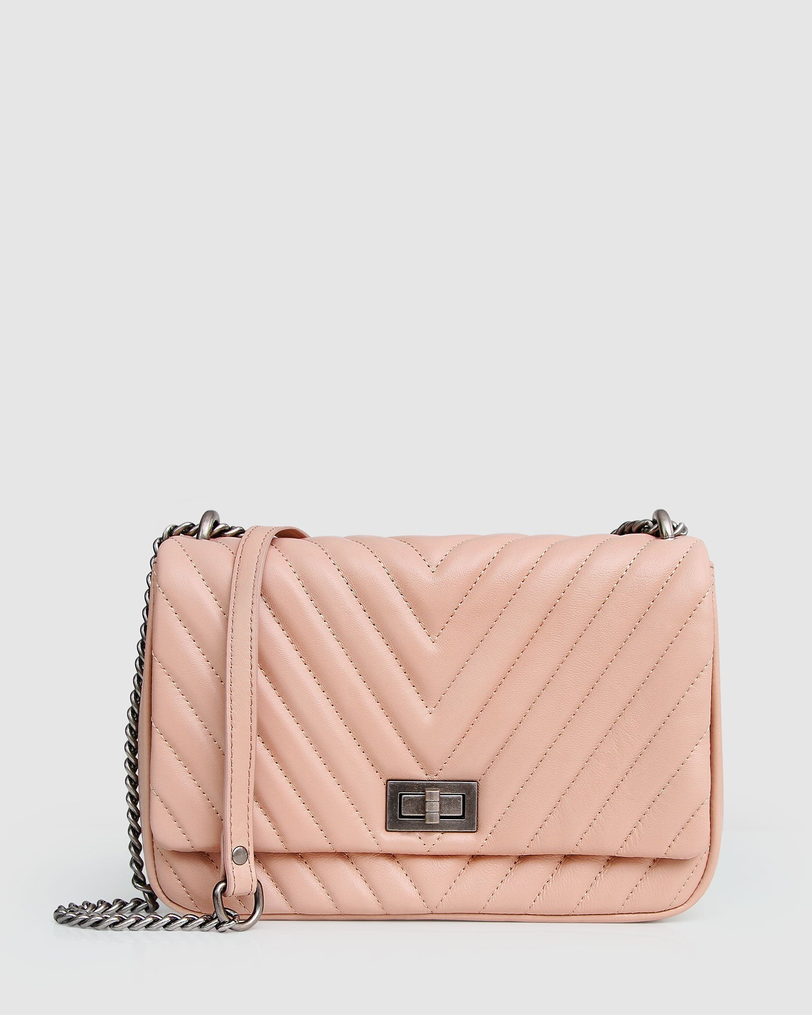 Belong to You Quilted Cross-Body Bag - Blush