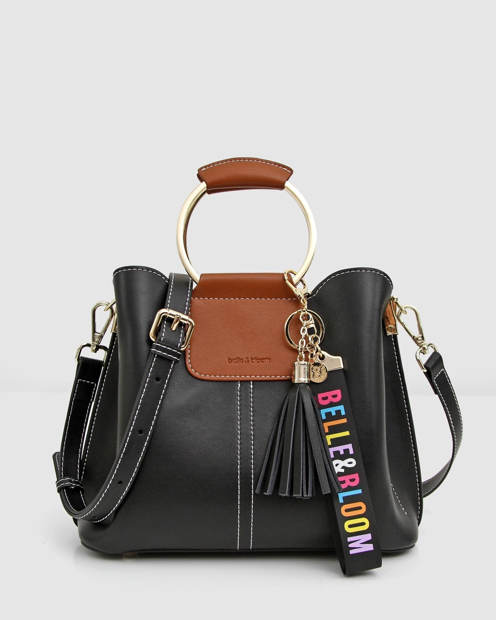 Twilight Leather Cross-Body Bag - Black / Brown