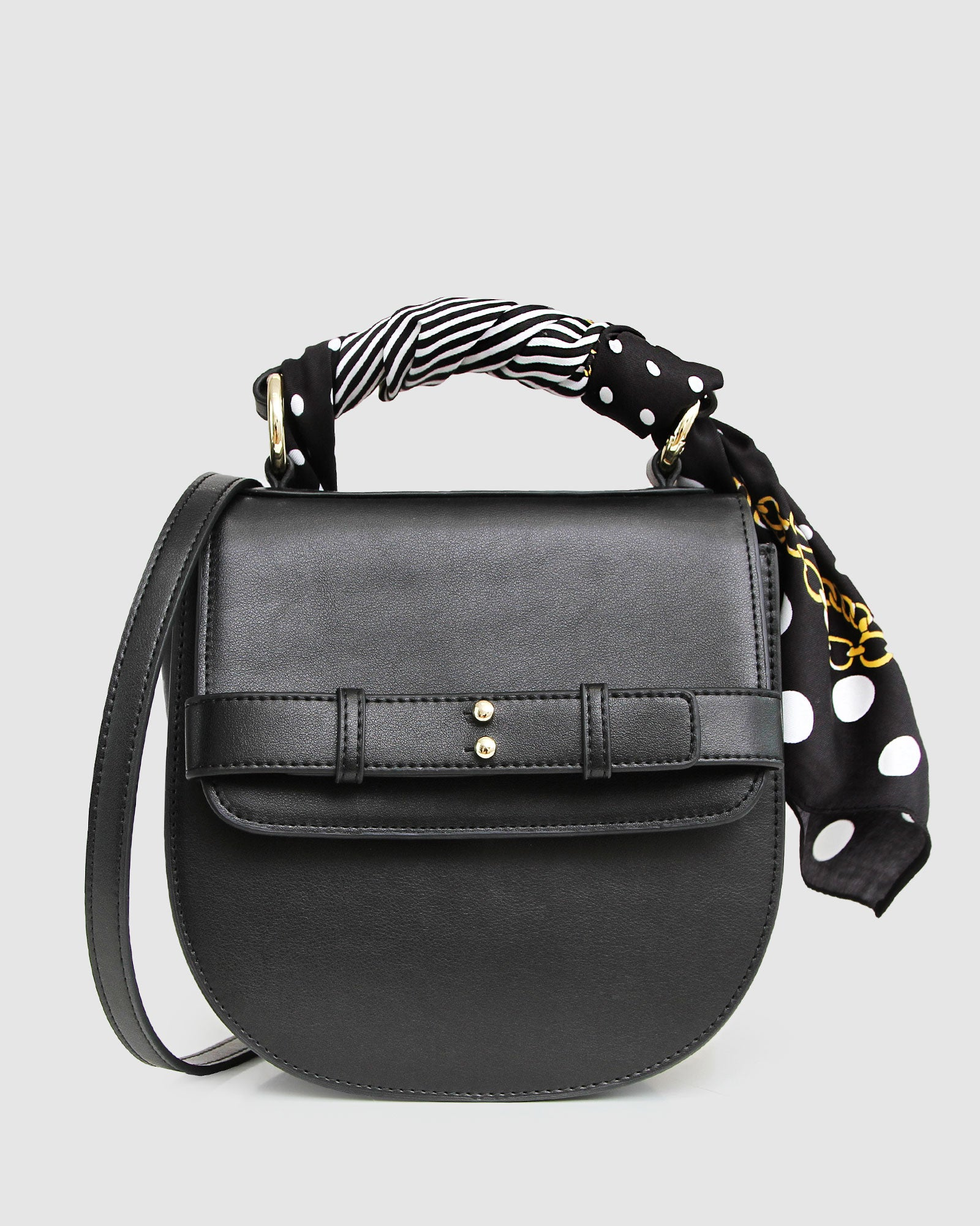 Love Bloom Leather Cross-Body Bag - Black