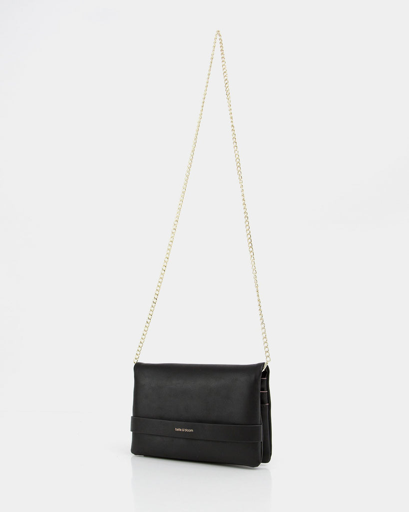 Pippa Leather Clutch - Black