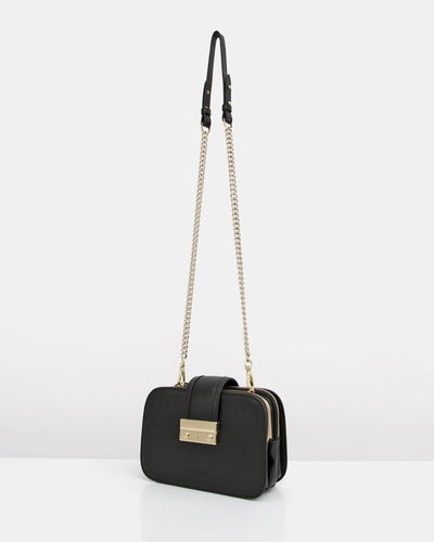 Fall For Me Leather Cross-Body - Black
