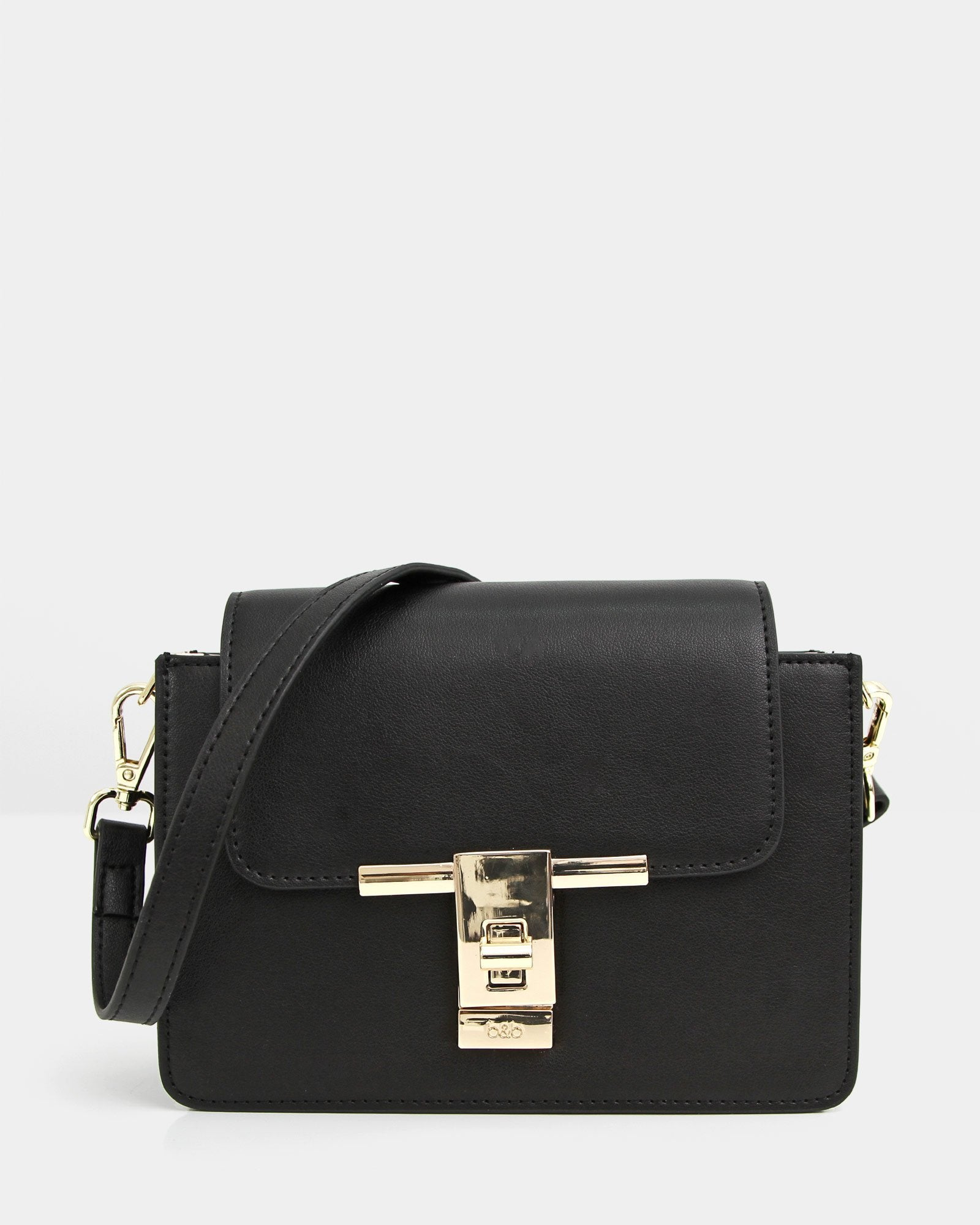 Seattle Night Leather Cross-Body - Black