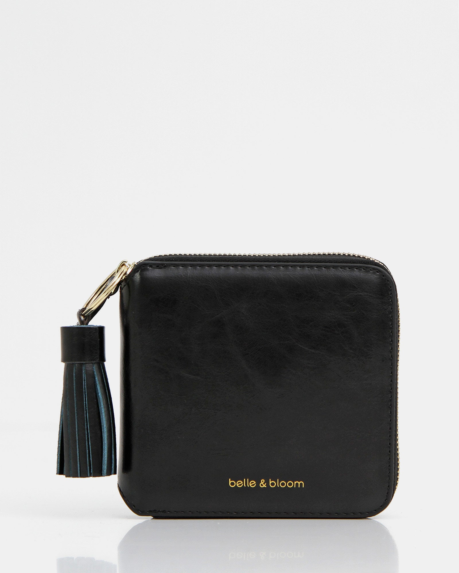 Nora Leather Wallet - Black