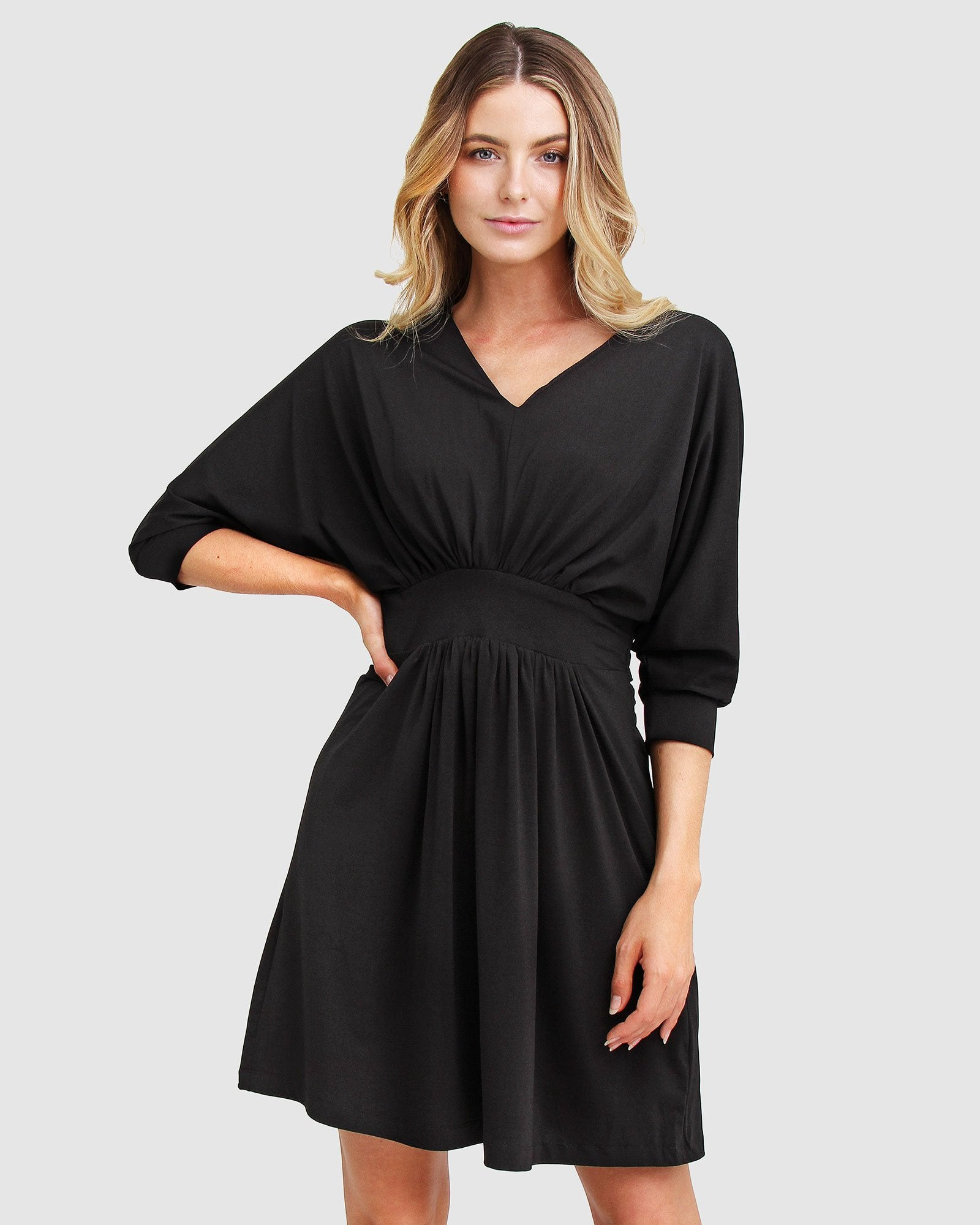 Morning Light Mini Dress - Black