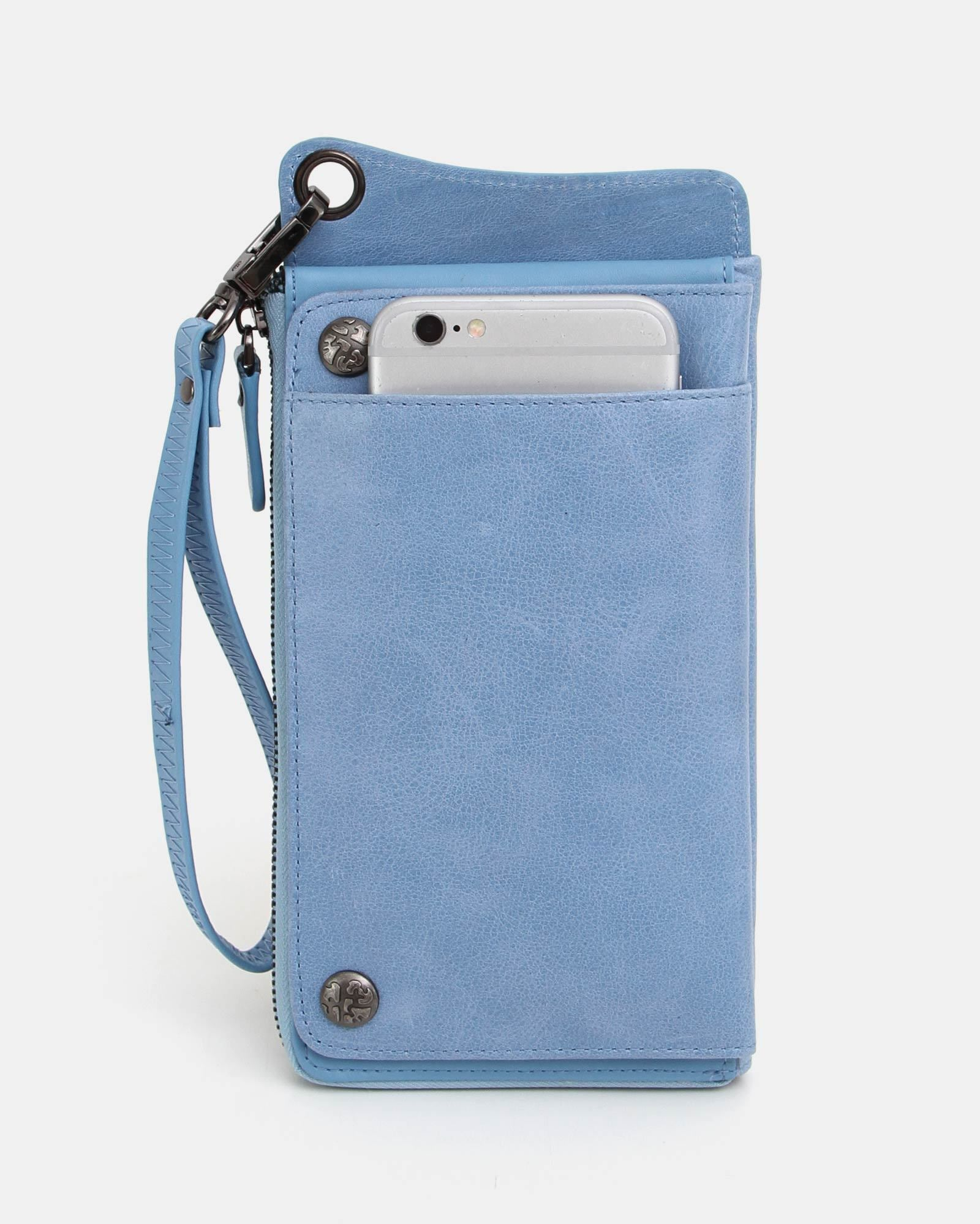 Penelope Leather Wallet - Blue