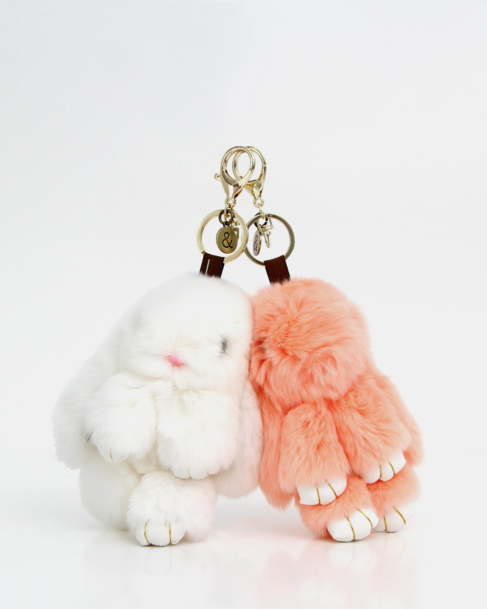 Faux Fur Bunny Keychain 2 Pack 5