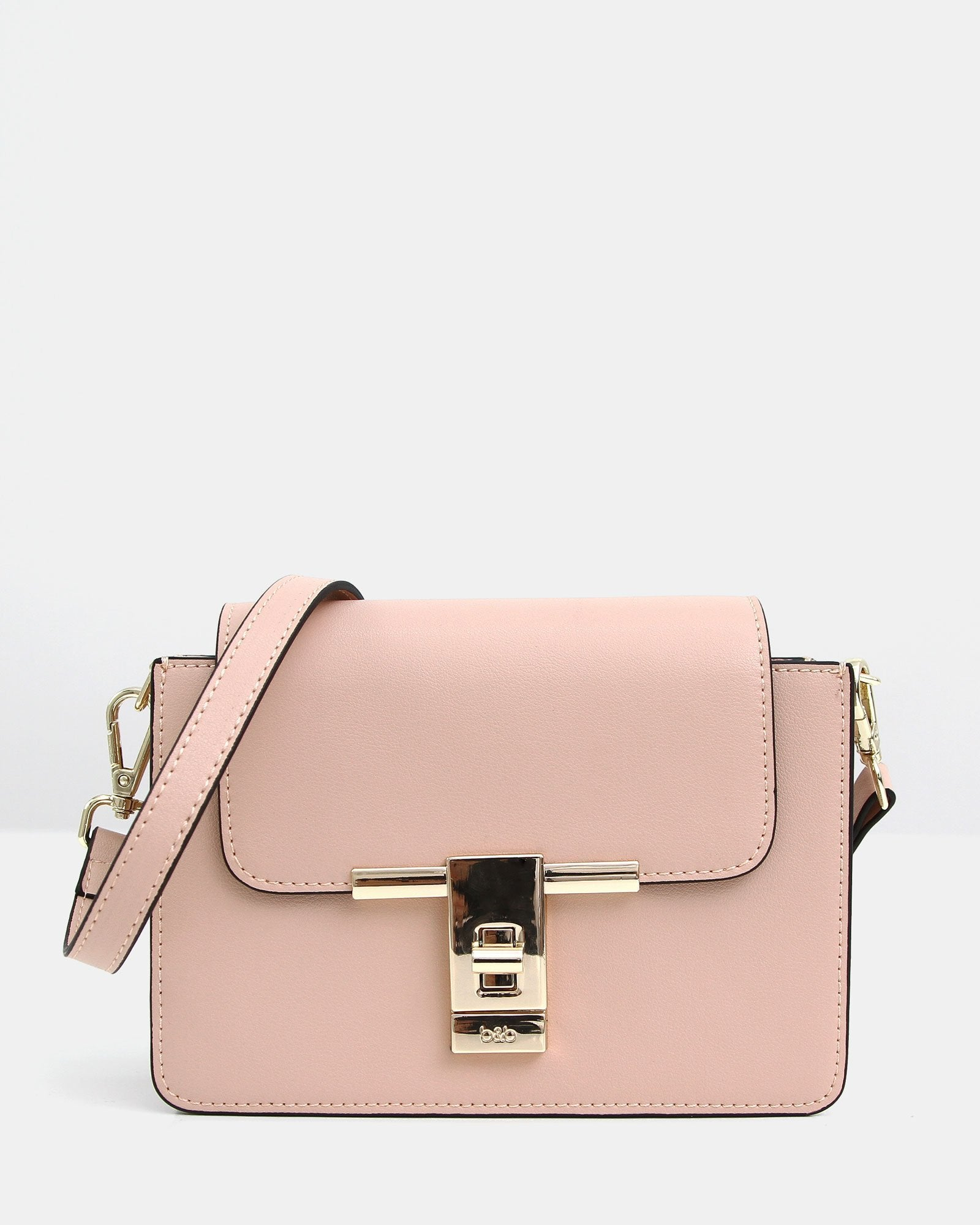 Seattle Night Leather Cross-Body - Blush