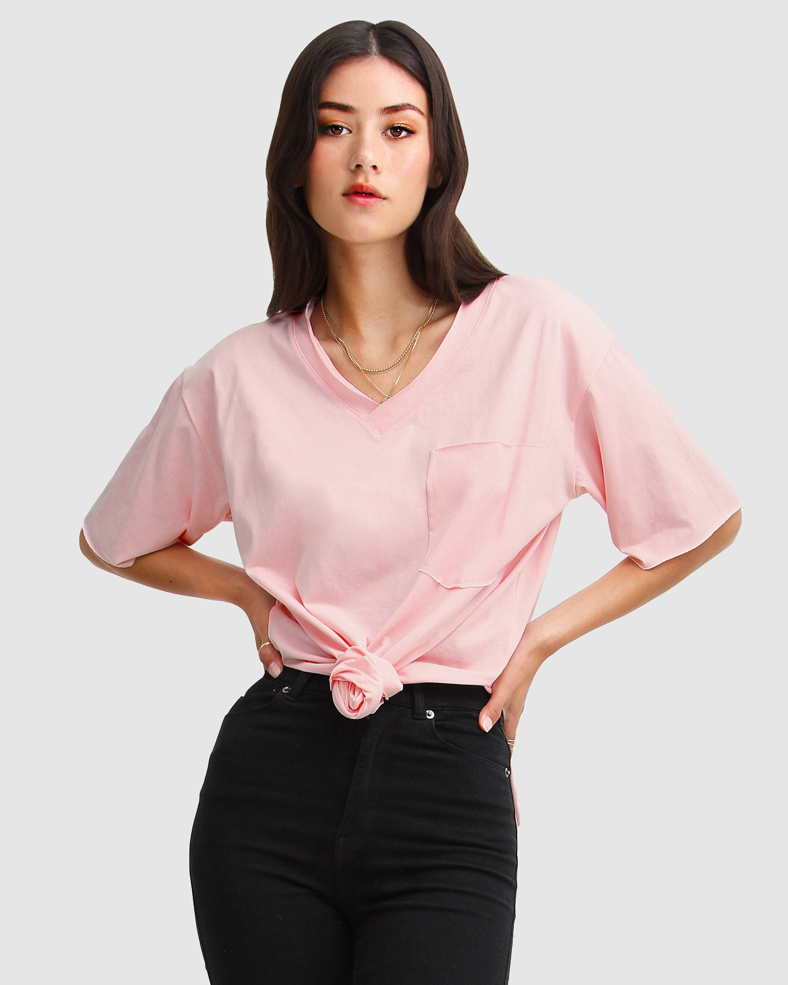 Brave Soul Oversized T-Shirt - Blush