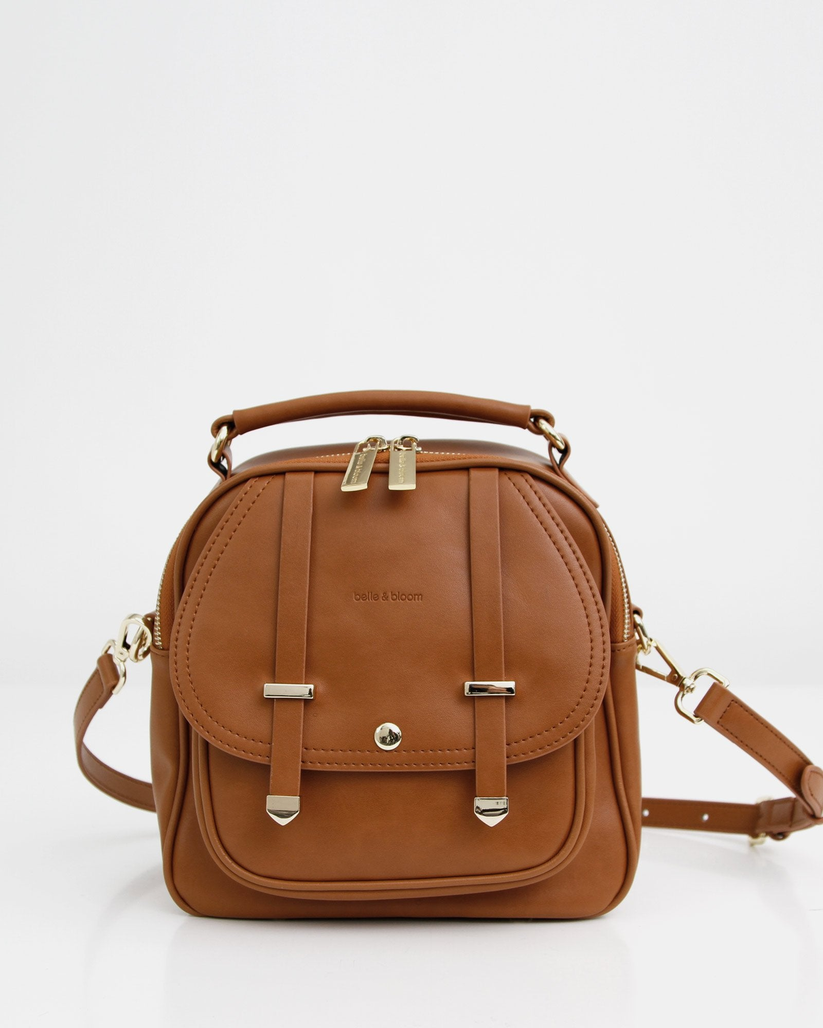 Camila Leather Backpack - Brown