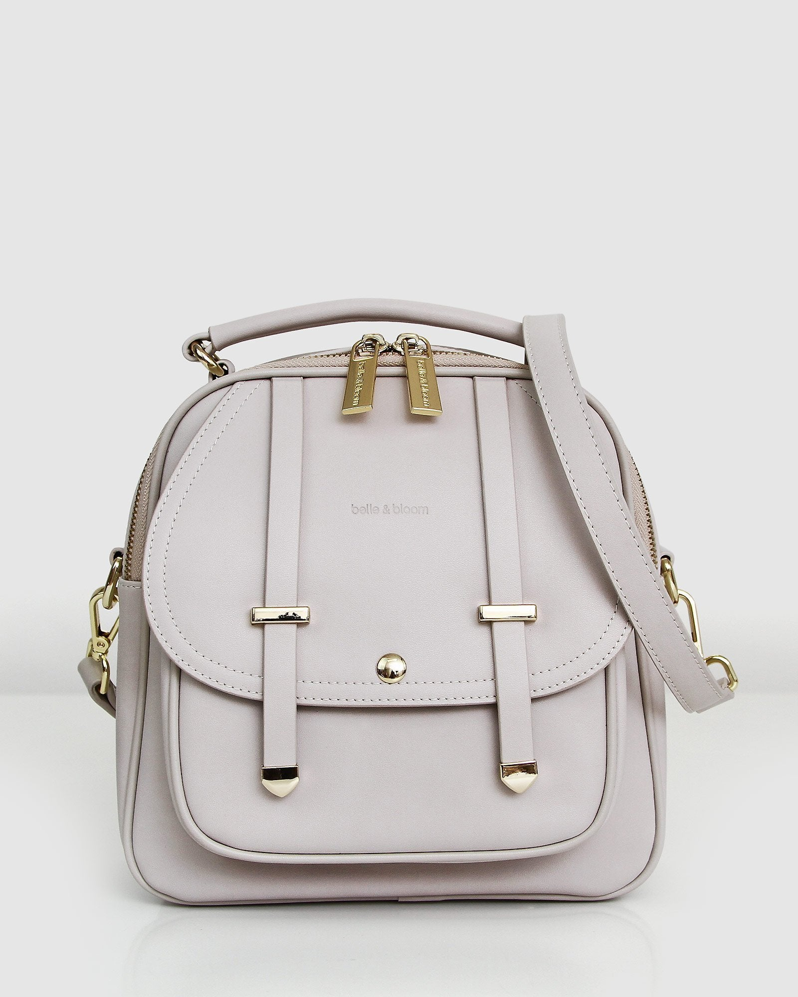 Camila Leather Backpack - Cream