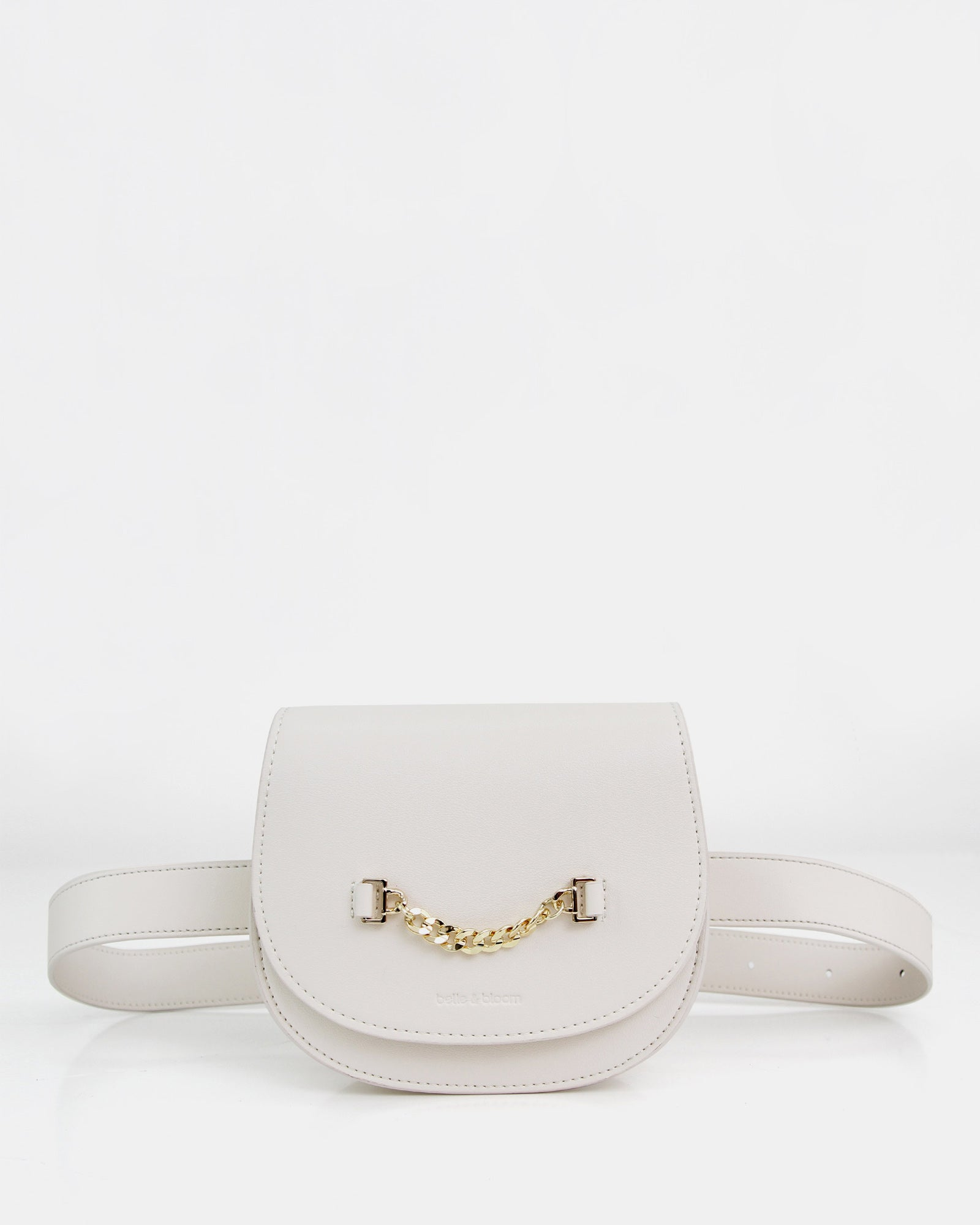 Ciao Bella Leather Belt Bag - Cream
