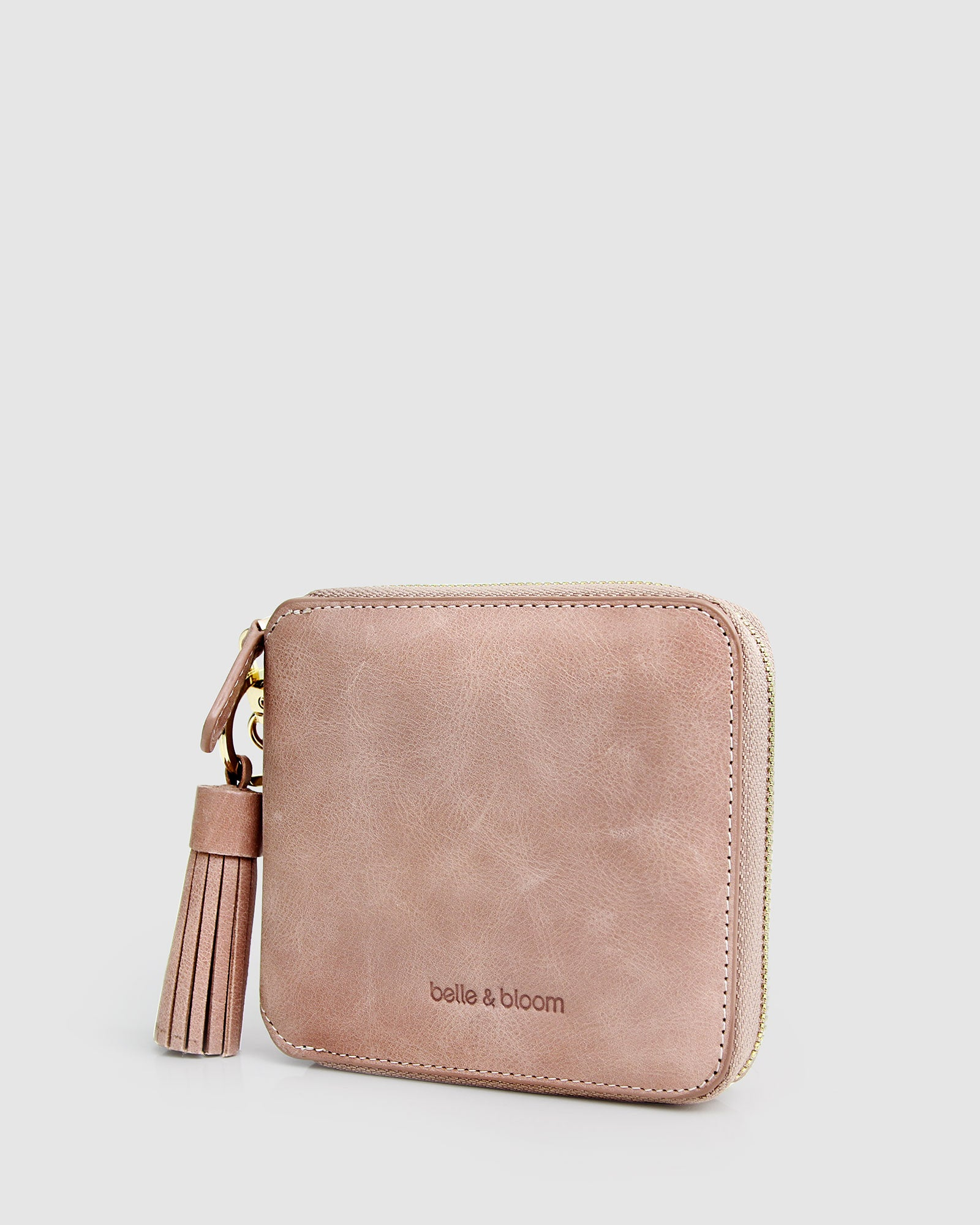 Nora Leather Wallet - Dusty Rose