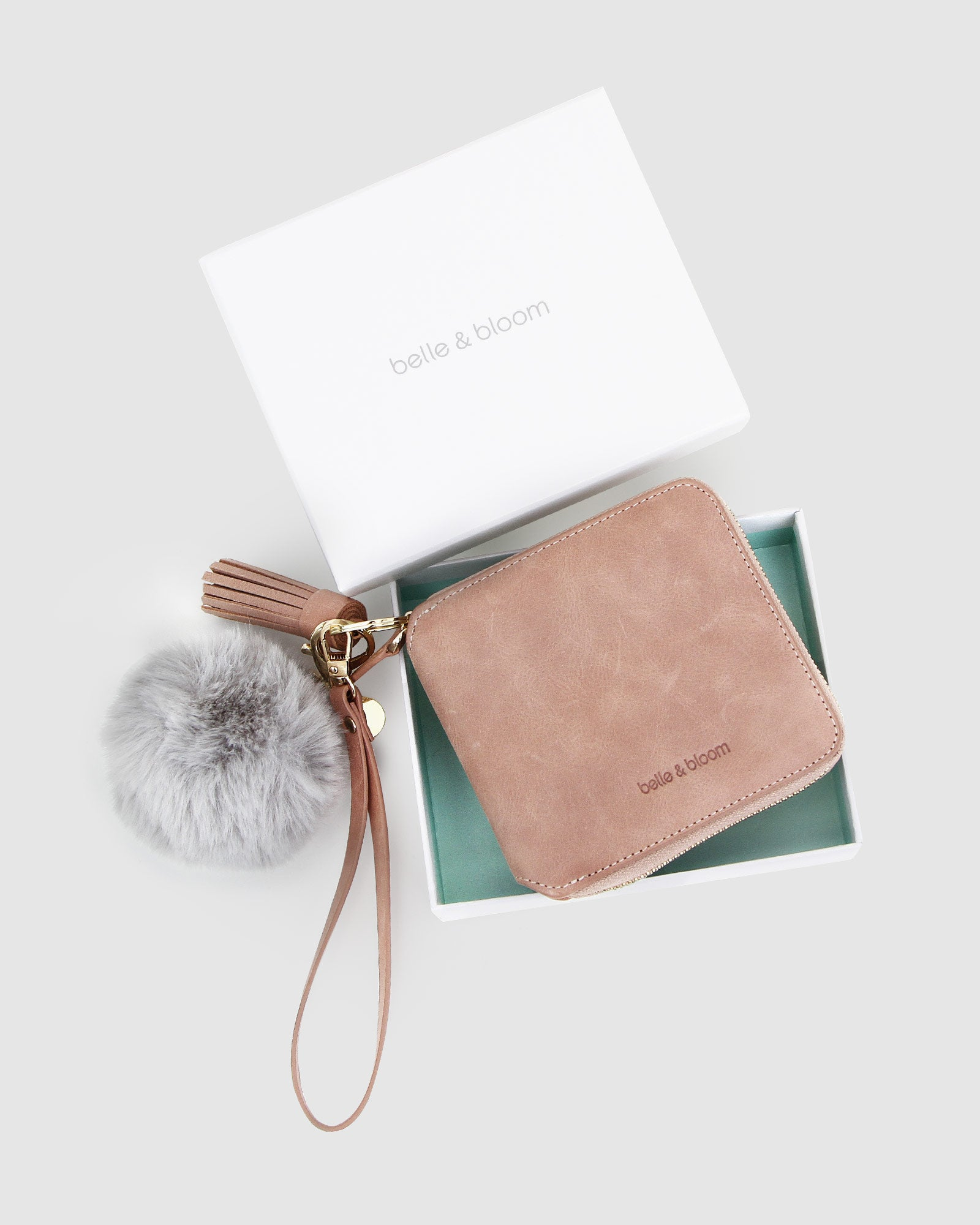 Nora Gift Pack + Fur Keychain - Dusty Rose/Grey