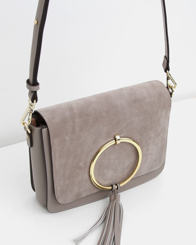 Sailor City Leather Cross-Body - Grey