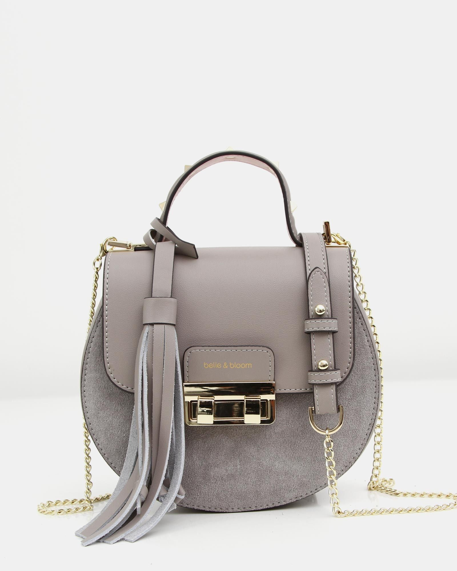 Belmore Exchange Leather Cross-Body - Grey