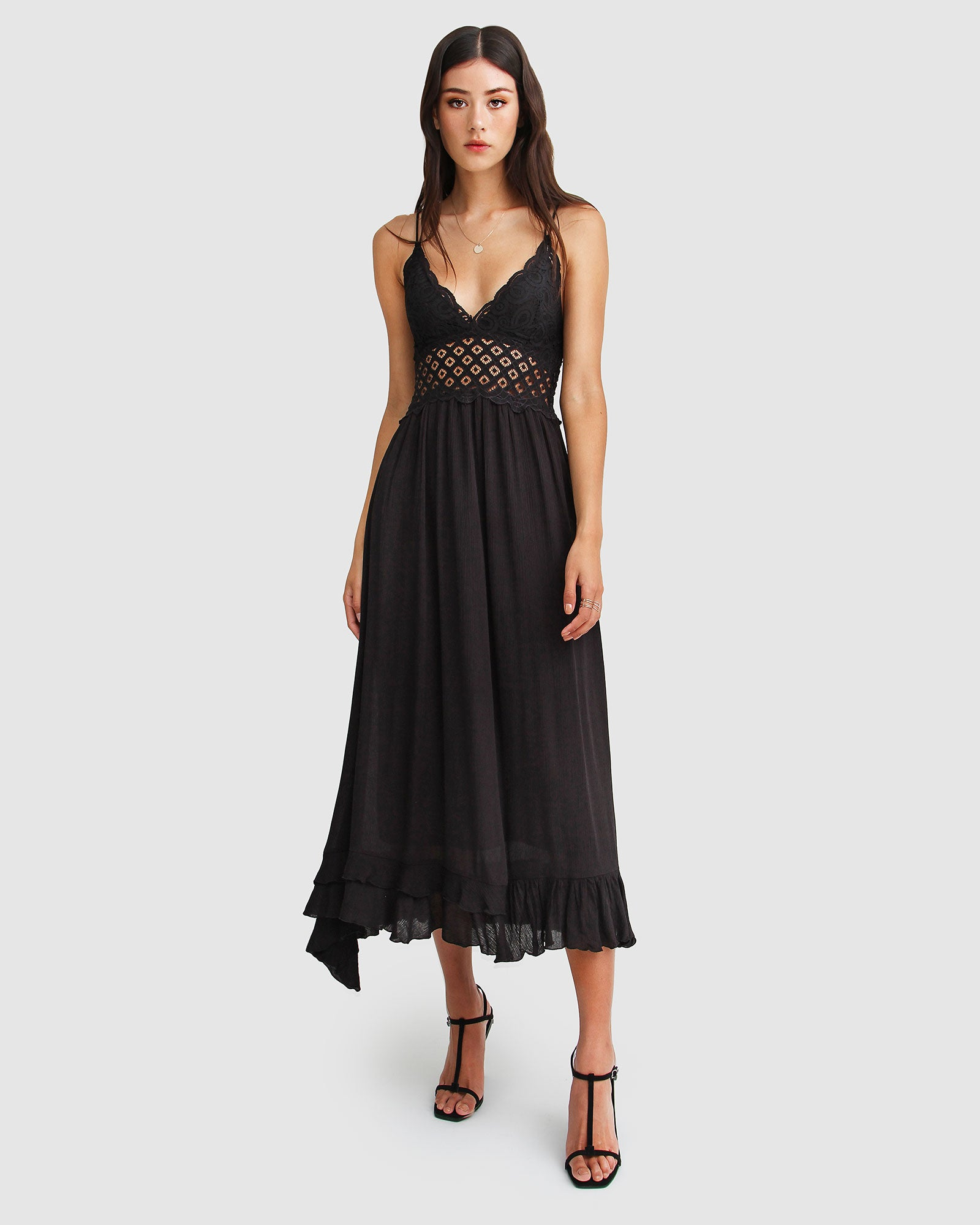 Lost In You Maxi Slip Dress - Black