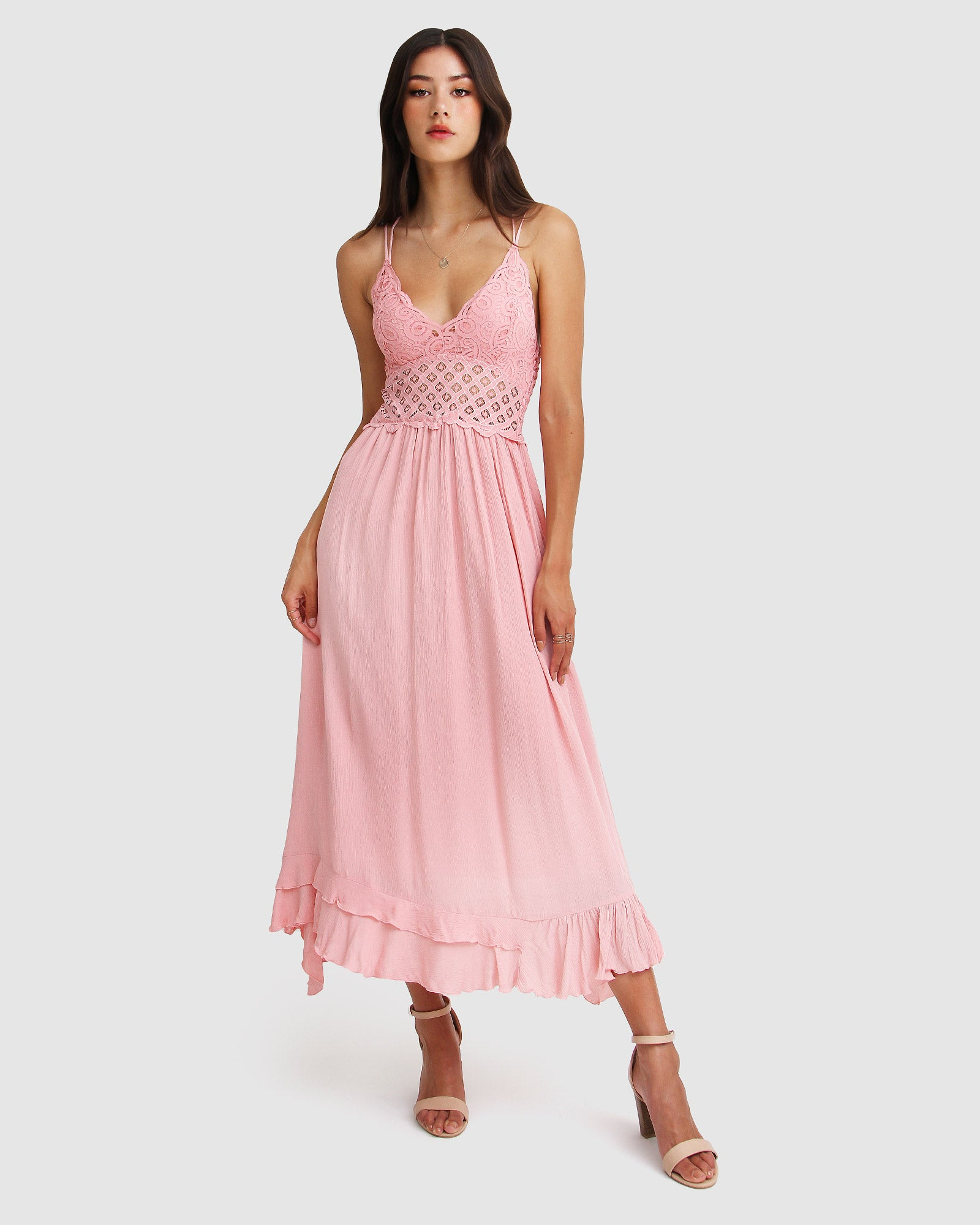 Lost In You Maxi Slip Dress - Blush