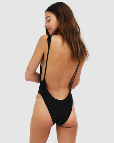 Capri One Piece Swimsuit Caviar