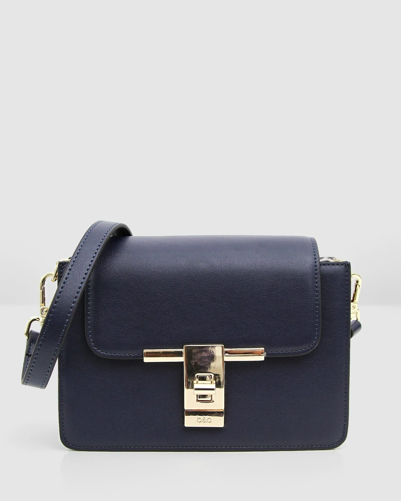 Seattle Night Leather Cross-Body - Navy