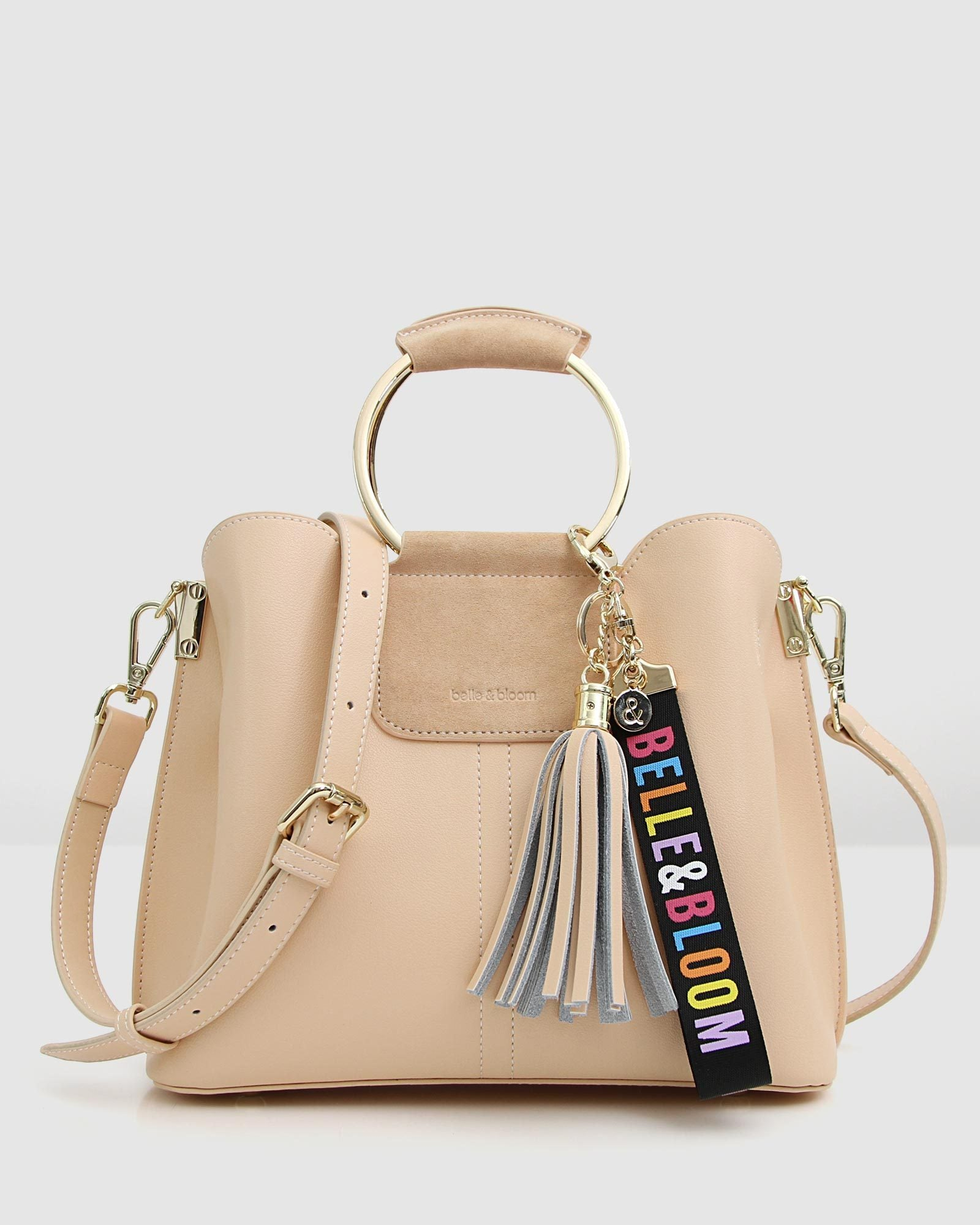 Twilight Leather Cross-Body Bag - Milk Tea/Sand