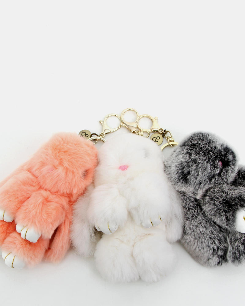 Faux Fur Bunny Keychain 3 Pack 1