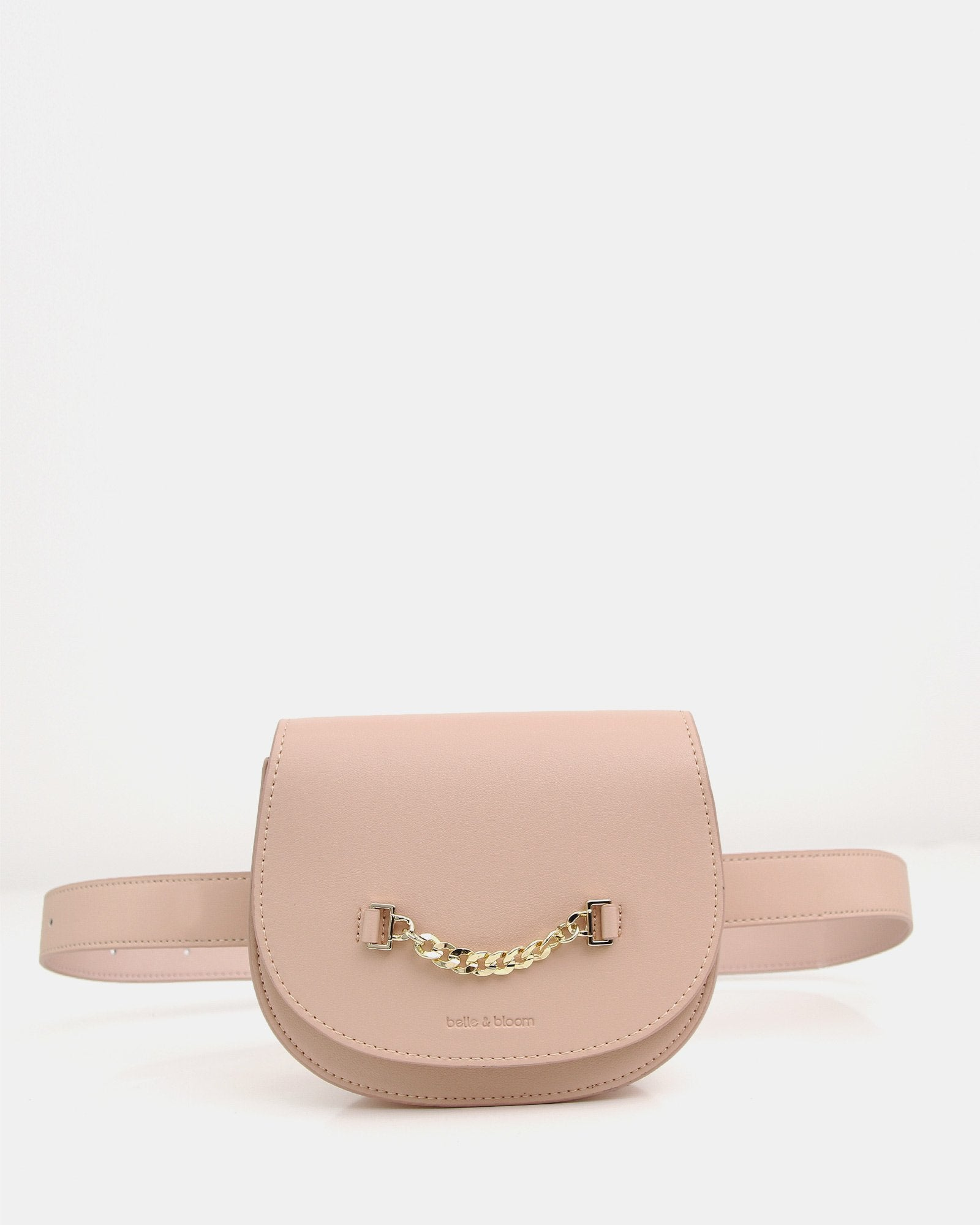 Ciao Bella Leather Belt Bag - Blush