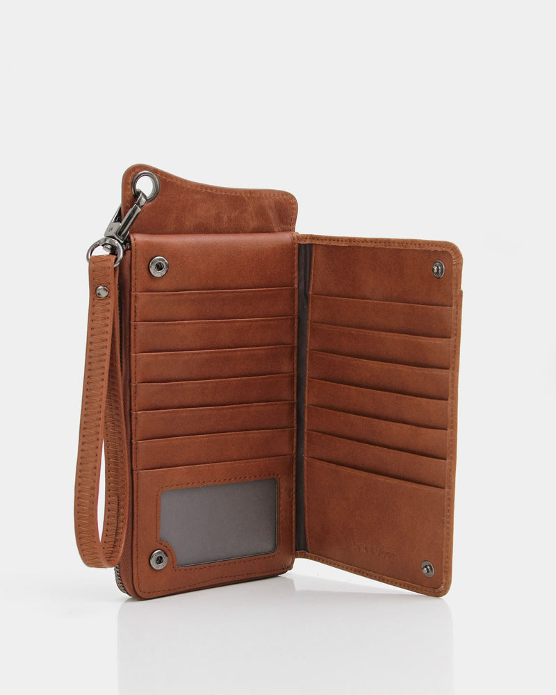 Penelope Leather Wallet - Brown