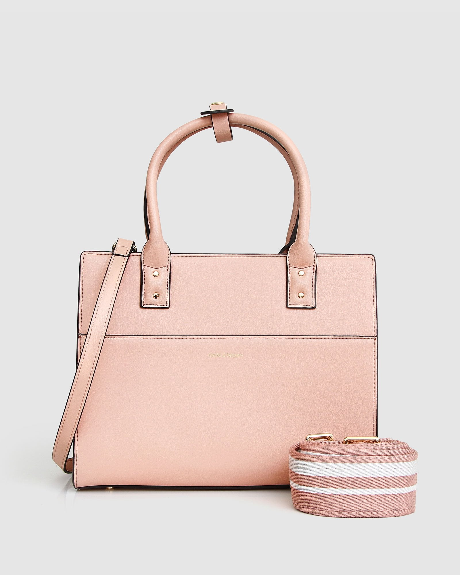 Someone Like You Leather Satchel - Dusty Rose