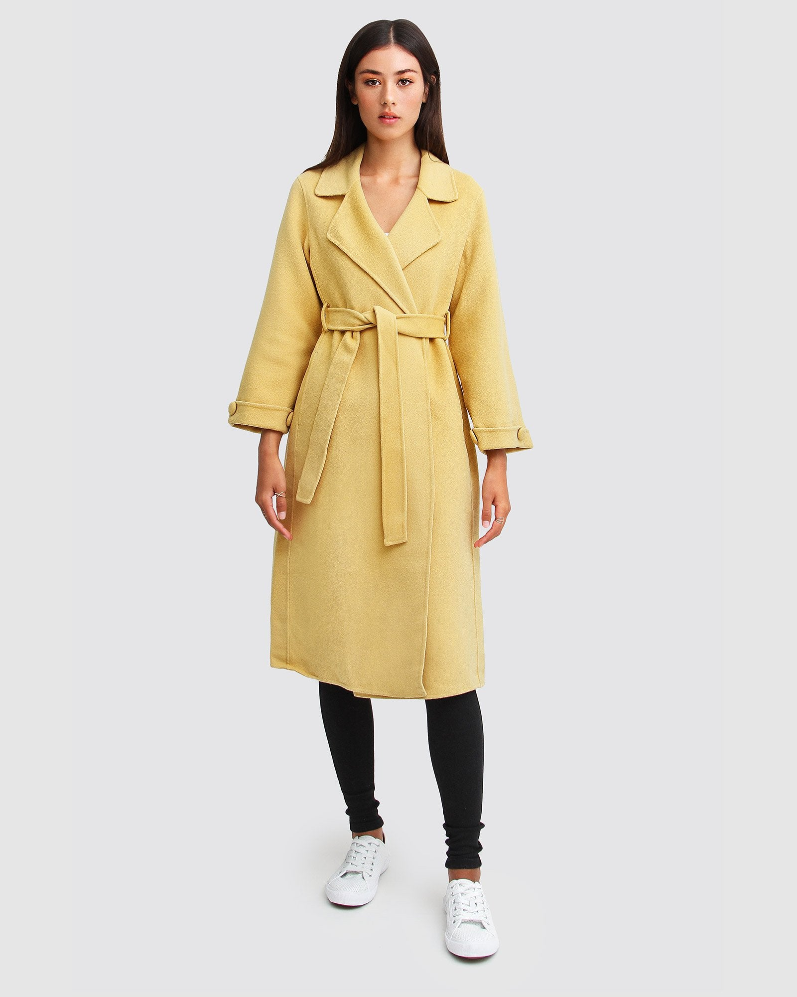 Stay Wild Oversized Wool Coat - Maize