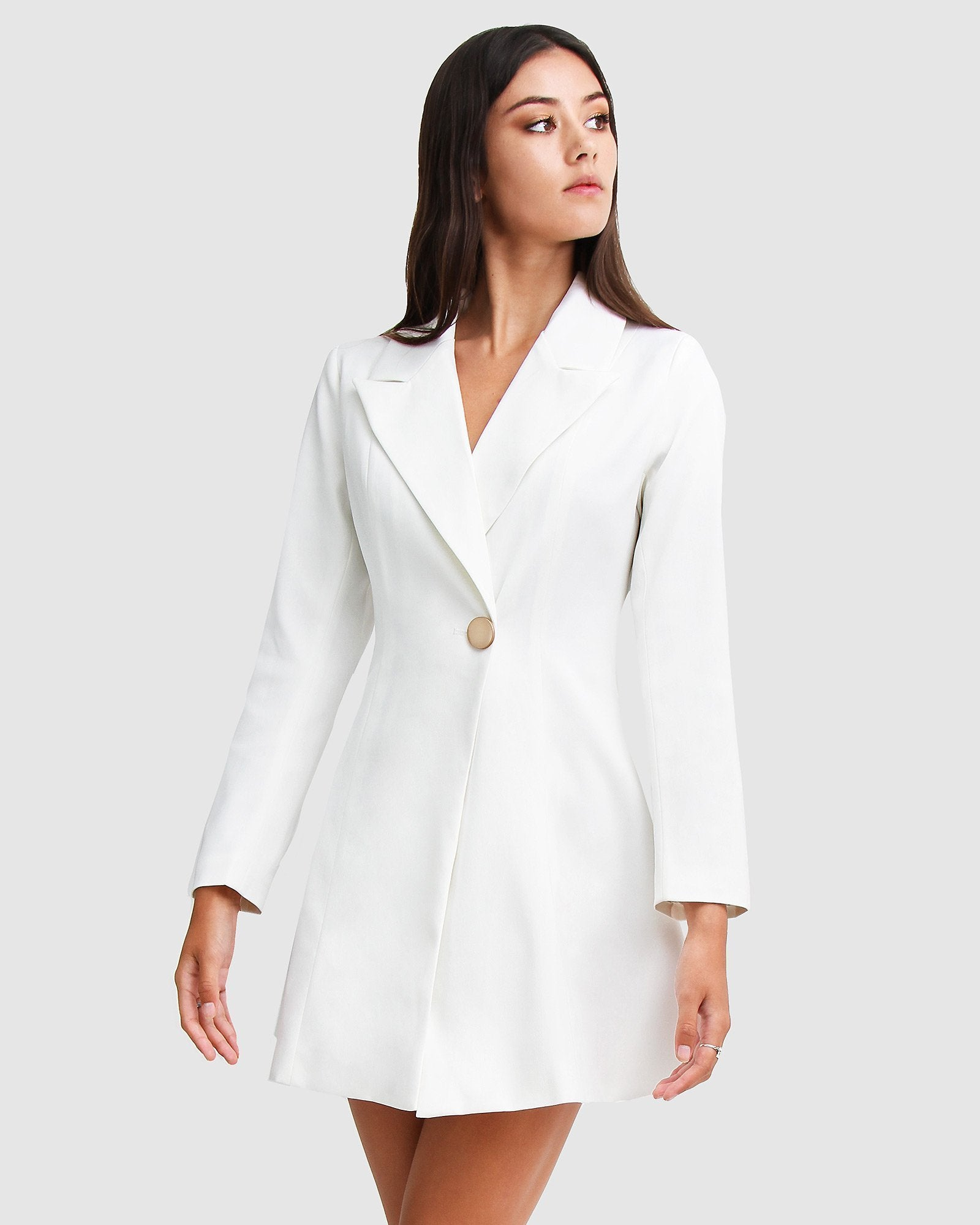 The Avenue Blazer Dress - White